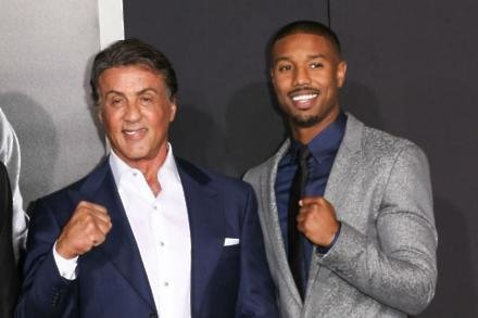Sylvester Stallone with Michael B. Jordan