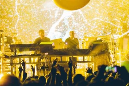 The Chemical Brothers on stage at Apple Music Festival