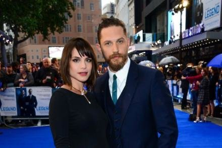 Tom Hardy with wife Charlotte Riley