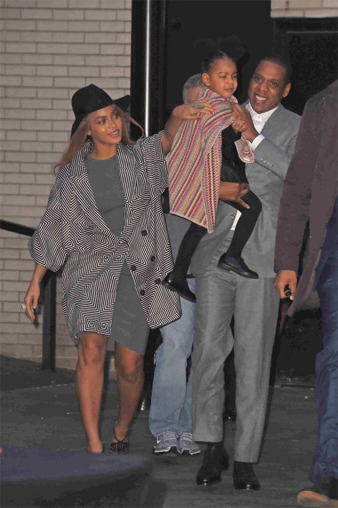 Beyonce, Jay Z and Blue