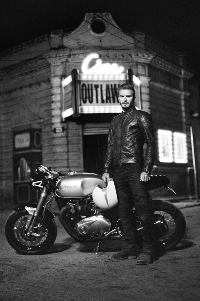 David Beckham in Belstaff film 'Outlaws'