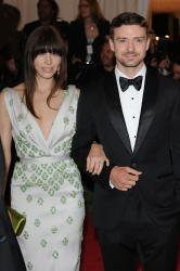 Jessica Biel with Justin Timberlake at Met Ball