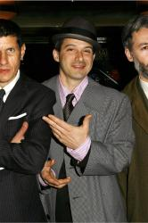 The Beastie Boys (L-R) Mike Diamond, Ad-Rock and MCA