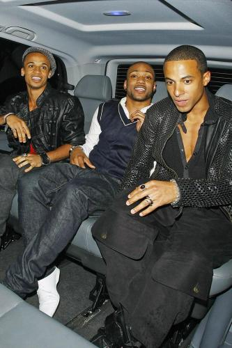 (L-R) Aston Merrygold, J.B and Marvin Hume of JLS