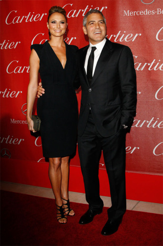 George Clooney and Stacy Keibler at the Palm Springs Film Festival