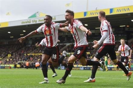 Norwich City 0-3 Sunderland