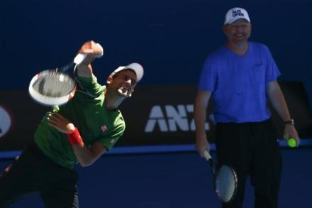 Becker questions Djokovic's work rate