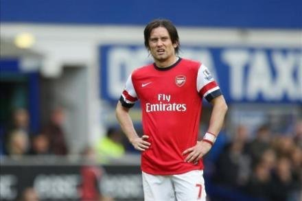 Gunners rocked by Rosicky blow
