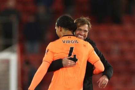 Van Dijk set for Reds Euro bow