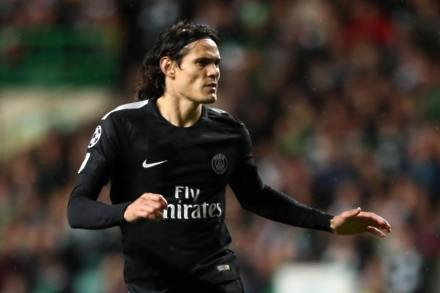 PSG striker Cavani keen to temper Champions League expectations