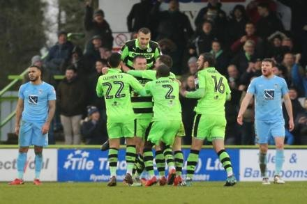 Alex Bray and Lee Collins help Forest Green shock Coventry
