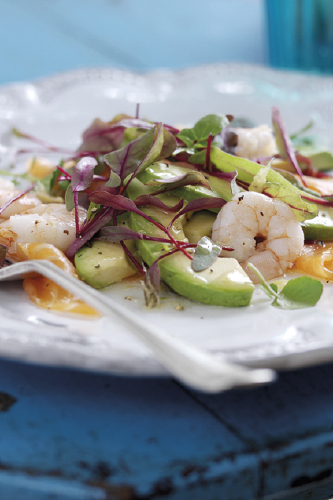 Smoked Salmon, Prawn & Avocado Salad with Horseradish Cream & Lime Vinaigrette