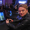 Conor Maynard playing Call Of Duty