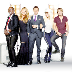 Keith Urban and the other judges