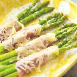 Asparagus, Prosciutto, and Cheese Tapas