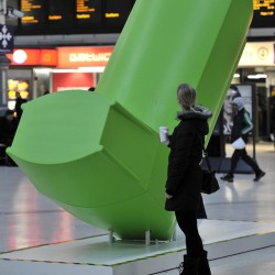 A giant inhaler was placed in Victoria Station, London to launch the scheme