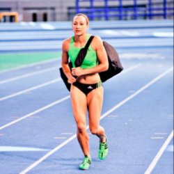 Jessica Ennis In Her Sports Gear