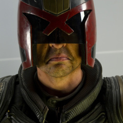 Karl Urban as Dredd