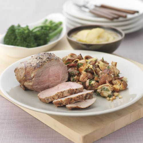 Lamb Roast with a Crunchy Fig Stuffing